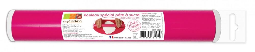 Scrap Cooking: Rolling pin for sugar paste16 cm. MOQ 6 Units @ £5.84 per unit 5121
