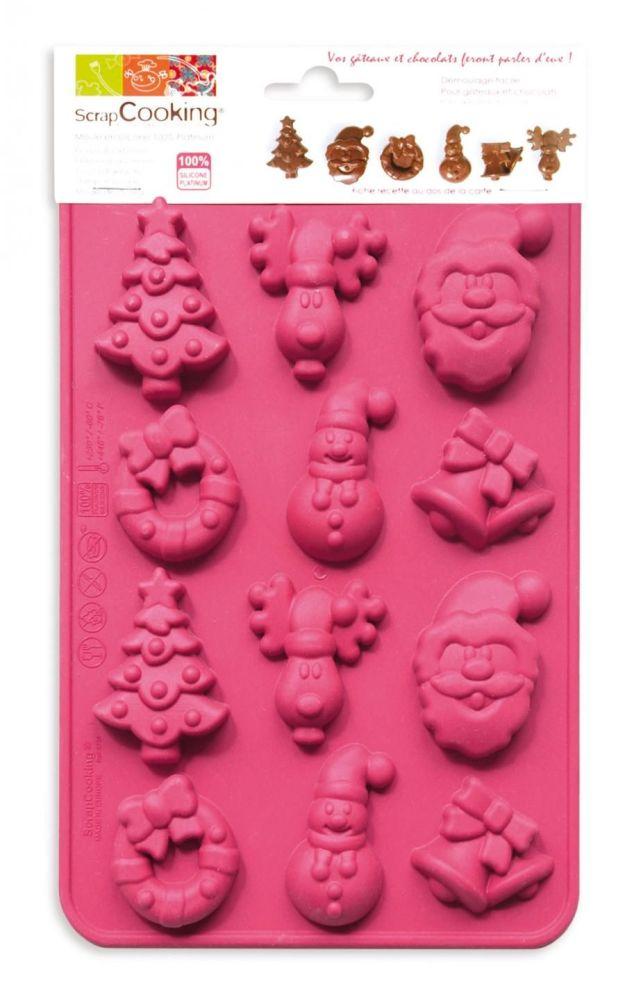 """Scrap Cooking: Mould ScrapCooking® """"Christmas Chocolate"""". MOQ 6 Units @ £7.73 per unit 6725"""