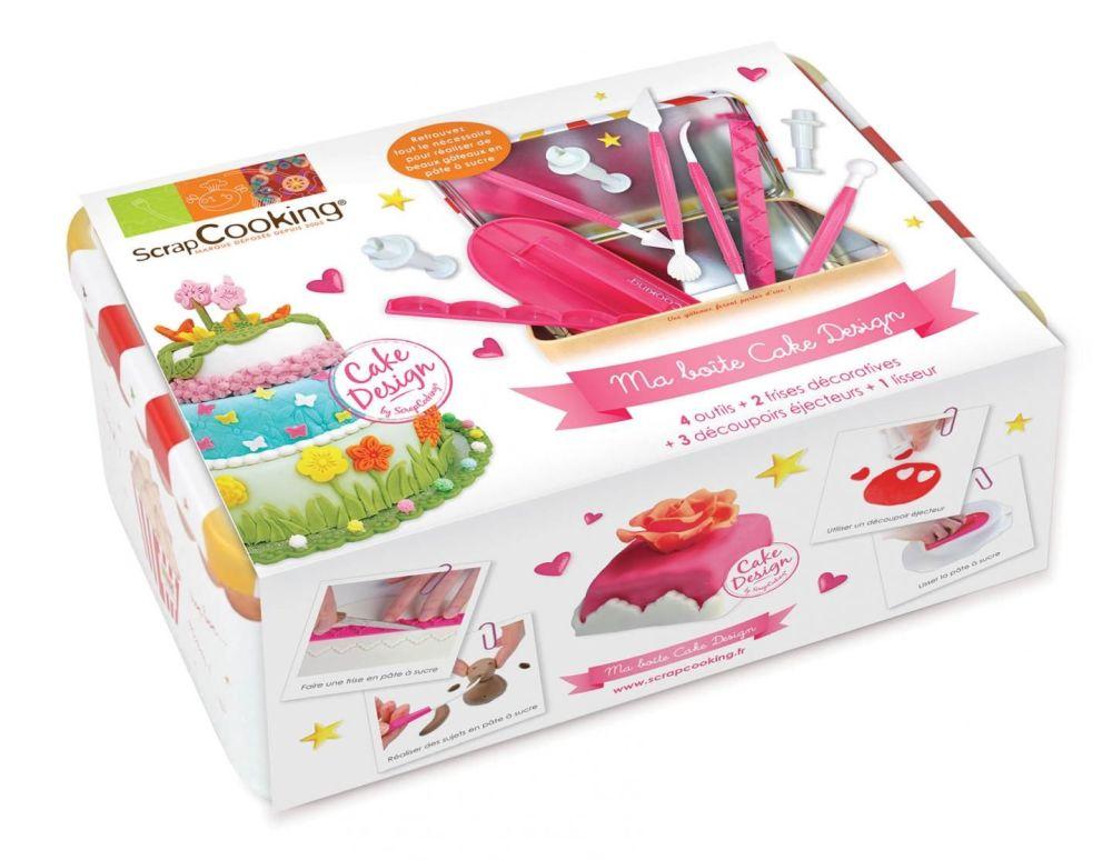 Scrap Cooking:  metal box Cake Design set. MOQ 6 Units @ £14.16 per unit 3983