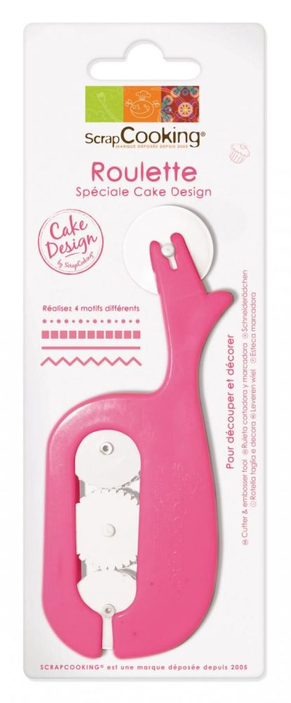 Scrap Cooking: cutter and embosser tool for sugar paste. MOQ 6 Units @ £4.02 per unit 5118