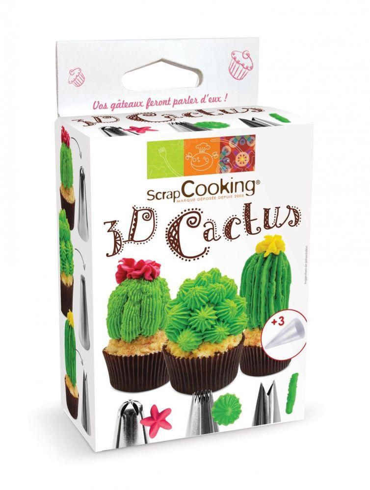 Scrap Cooking: 3D Cactus set. MOQ 6 Units @ £8.02 per unit 1827