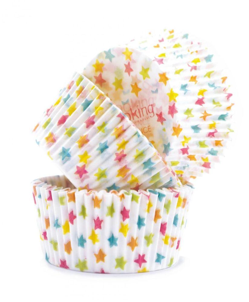 """Scrap Cooking: """" +/- 40 cupcakes cases """"Stars"""". MOQ 6 Units @ £2.72 per unit 5083"""