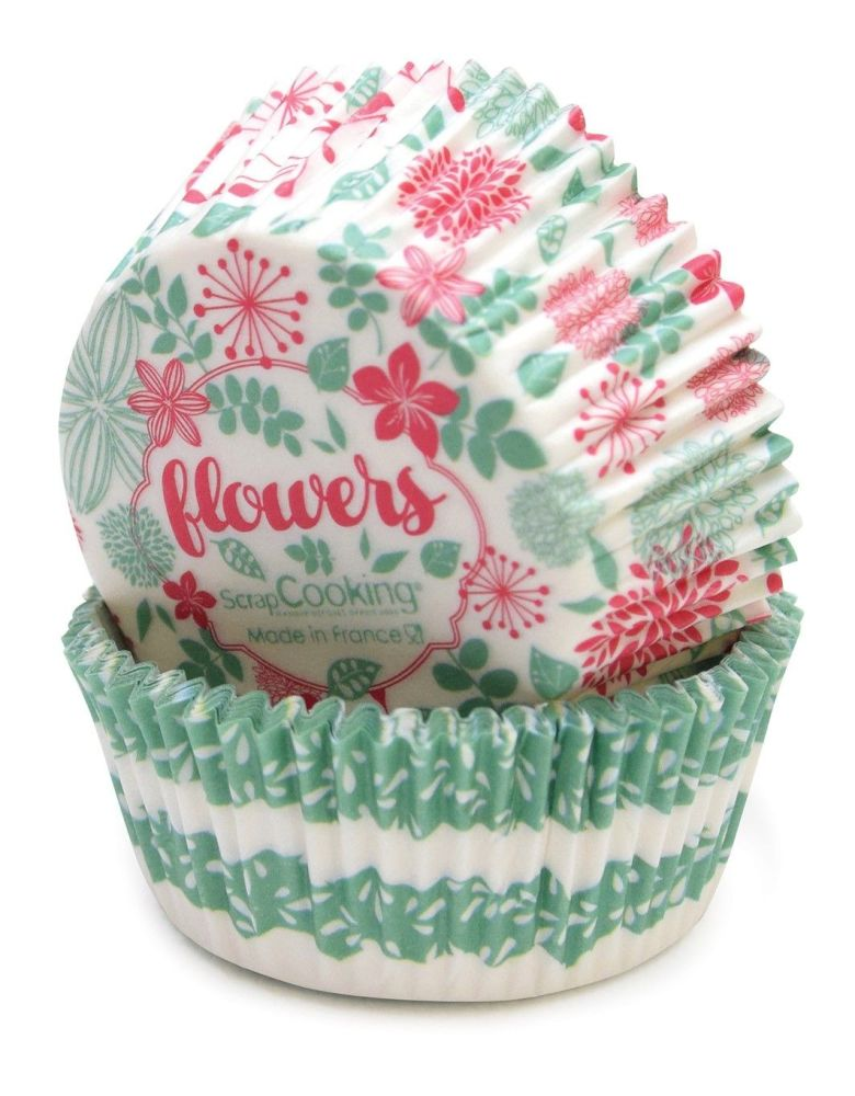 Scrap Cooking: 36 cupcakes cases liberty pattern. MOQ 6 Units @ £2.7 per unit 5047