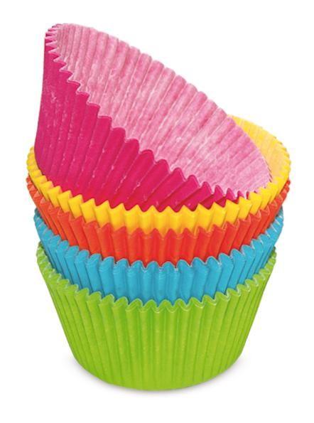 Scrap Cooking: 100 cupcakes cases assorted colors. MOQ 6 Units @ £5.39 per unit 5041