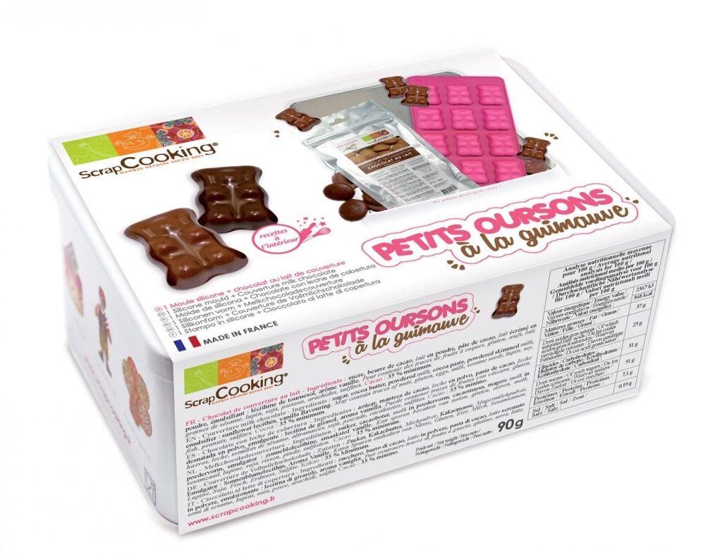 Scrap Cooking: Metal box - Marshmallow Teddy Bears. MOQ 6 Units @ £12.21 per unit 3985