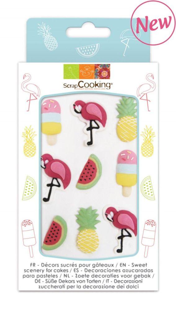 Scrap Cooking: Sweetened decor « Summer ». MOQ 15 Units @ £3.54 per unit 7037