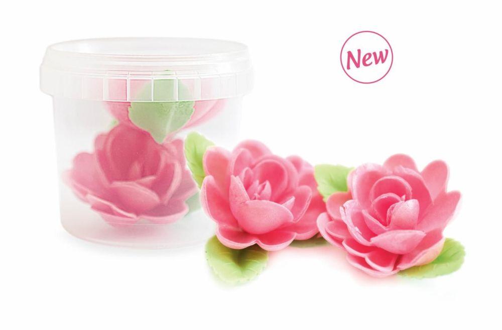 Scrap Cooking: 2 roses wafer decor. MOQ 6 Units @ £3.03 per unit 2265