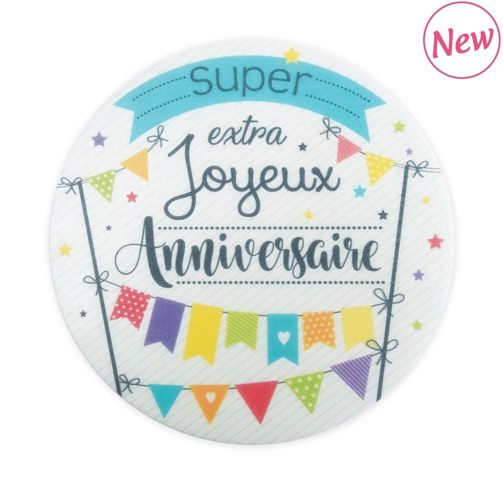 "Scrap Cooking: 2 Unleavened disks "" joyeux anniversaire"". MOQ 10 Units @ £2.31 per unit 0400"