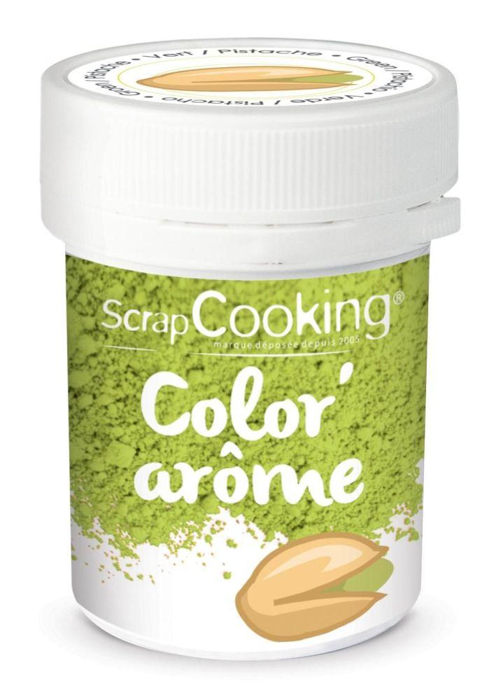 Scrap Cooking: Color'arôme green / pistache 10g. MOQ 9 Units @ £2.89 per unit 4055
