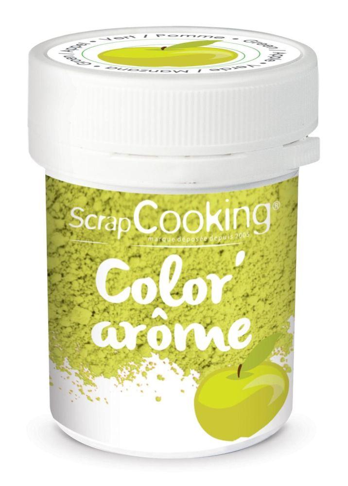 Scrap Cooking: Color'arôme green / pomme 10g. MOQ 9 Units @ £2.89 per unit 4056