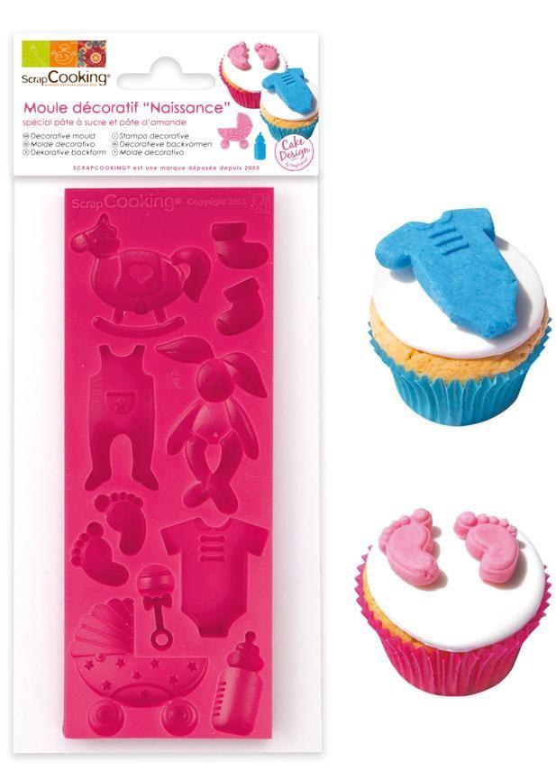 "Scrap Cooking: ScrapCooking® mould for sugar paste ""birth theme"". MOQ 6 Units @ £7.41 per unit 3442"