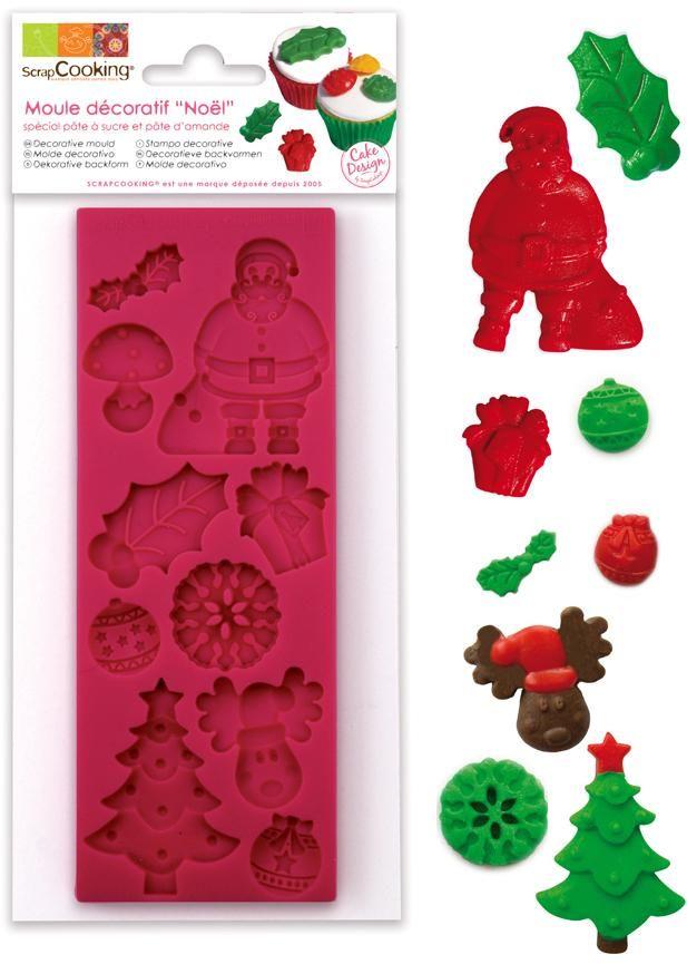 "Scrap Cooking: ScrapCooking® mould for sugar paste ""christmas theme "". MOQ 6 Units @ £7.41 per unit 3441"