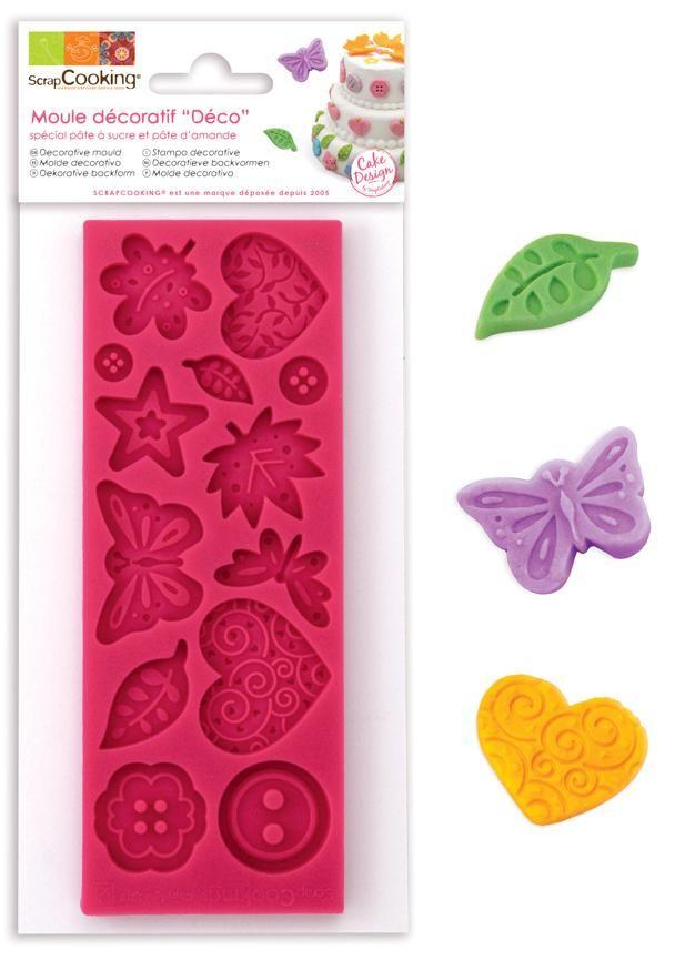 """Scrap Cooking: ScrapCooking® mould for sugar paste """"deco"""". MOQ 6 Units @ £7.41 per unit 3431"""