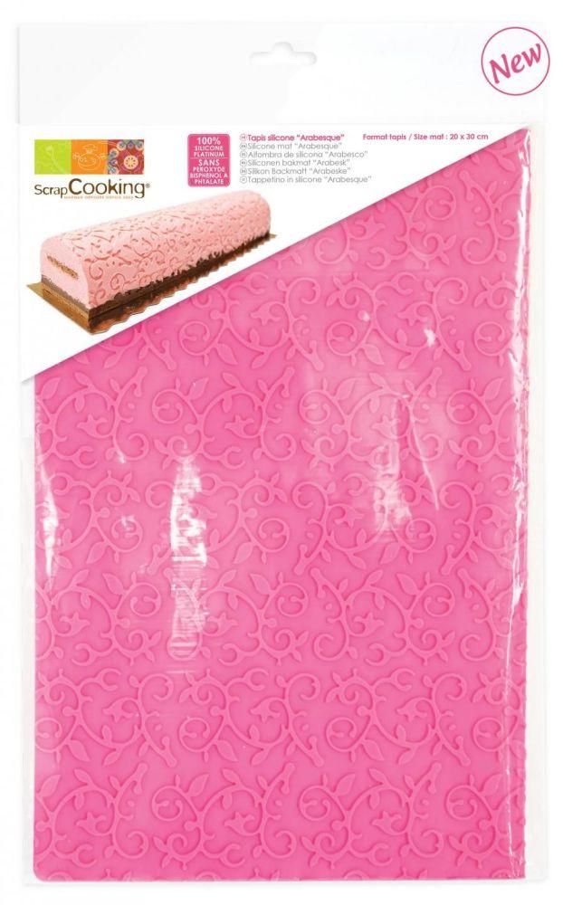 Scrap Cooking: Silicone mat « Arabesque ». MOQ 6 Units @ £10.4 per unit 3174