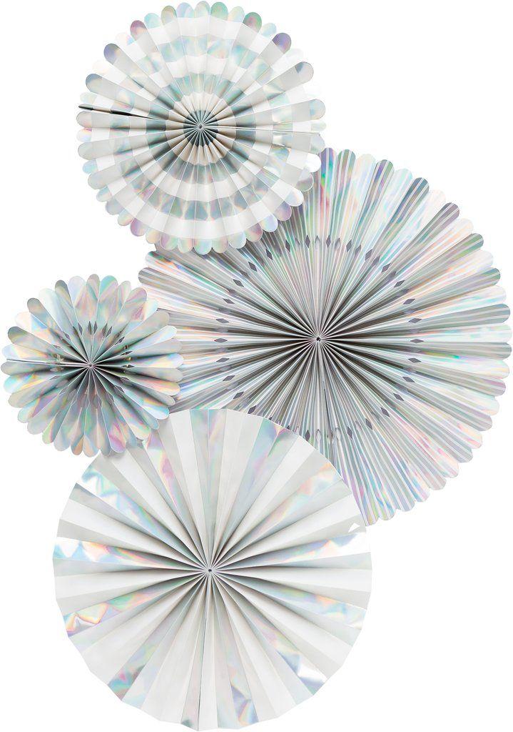 My Mind's Eye Basic Holographic Fan Set. 3 Units.