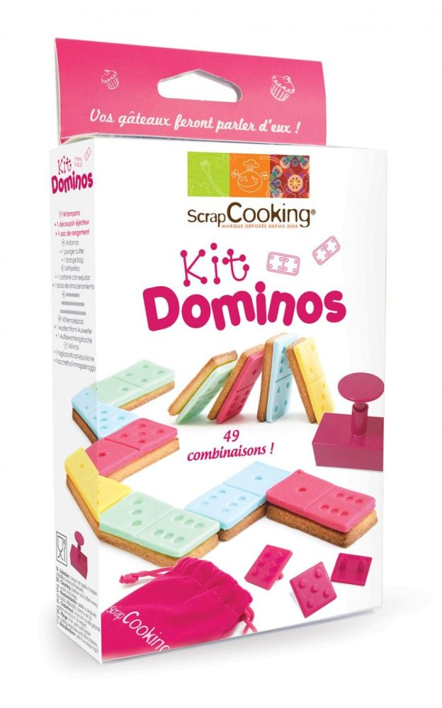 Scrap Cooking: Dominoes set for biscuits and sugar paste. MOQ 6 Units @ £9.54 per unit 2038
