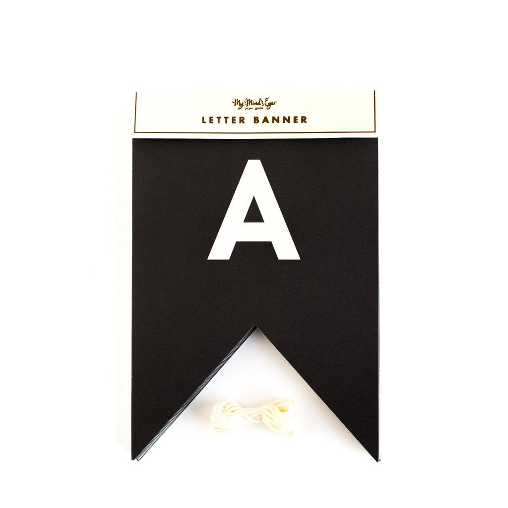 My Mind's Eye Black & White Letter Banner. 3 Units.