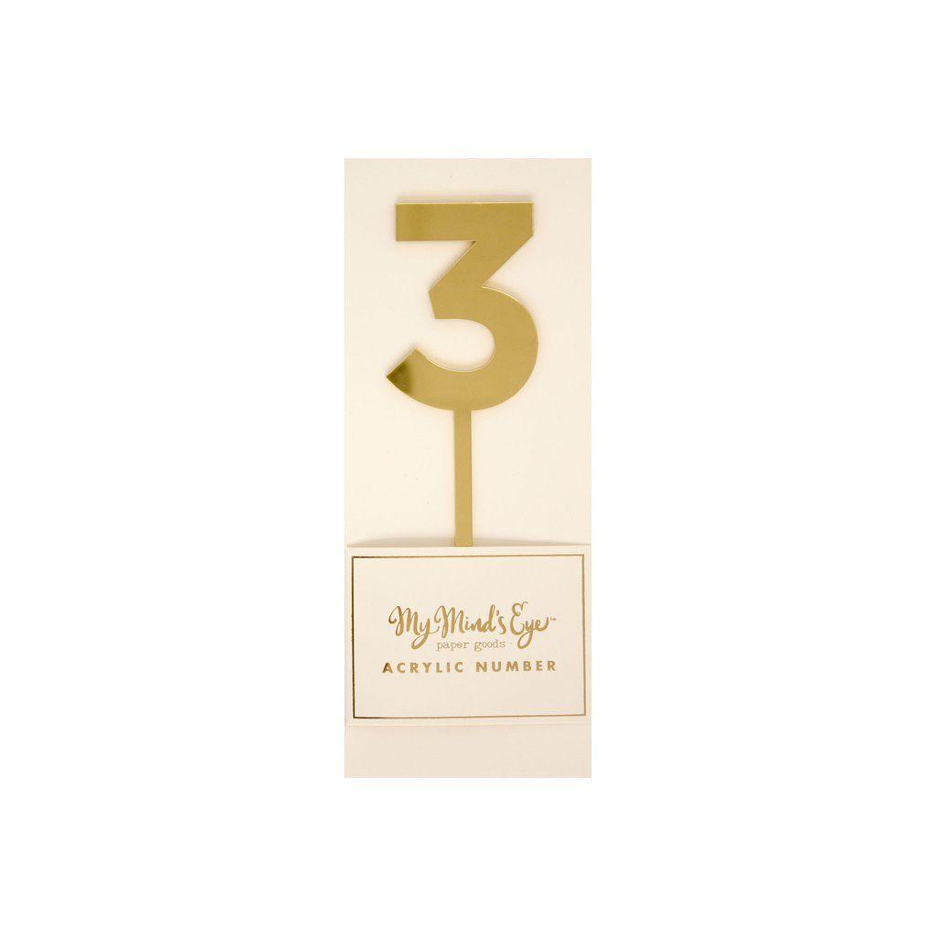 """My Mind's Eye """"Basic  Gold  Acrylic Number 3"""". 3 Units."""