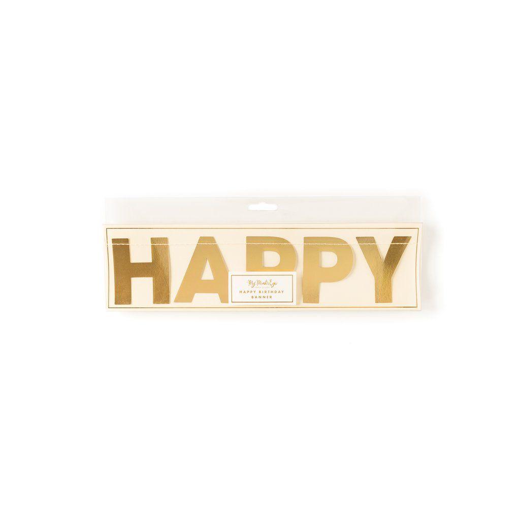 My Mind's Eye Basic Happy Birthday Banner . 3 Units.