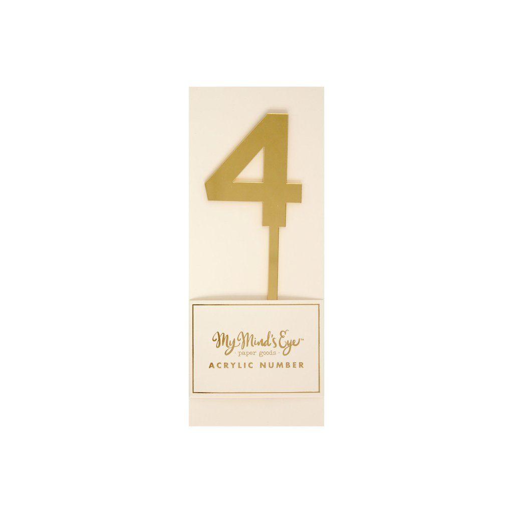 """My Mind's Eye """"Basic Gold  Acrylic Number 4"""". 3 Units."""