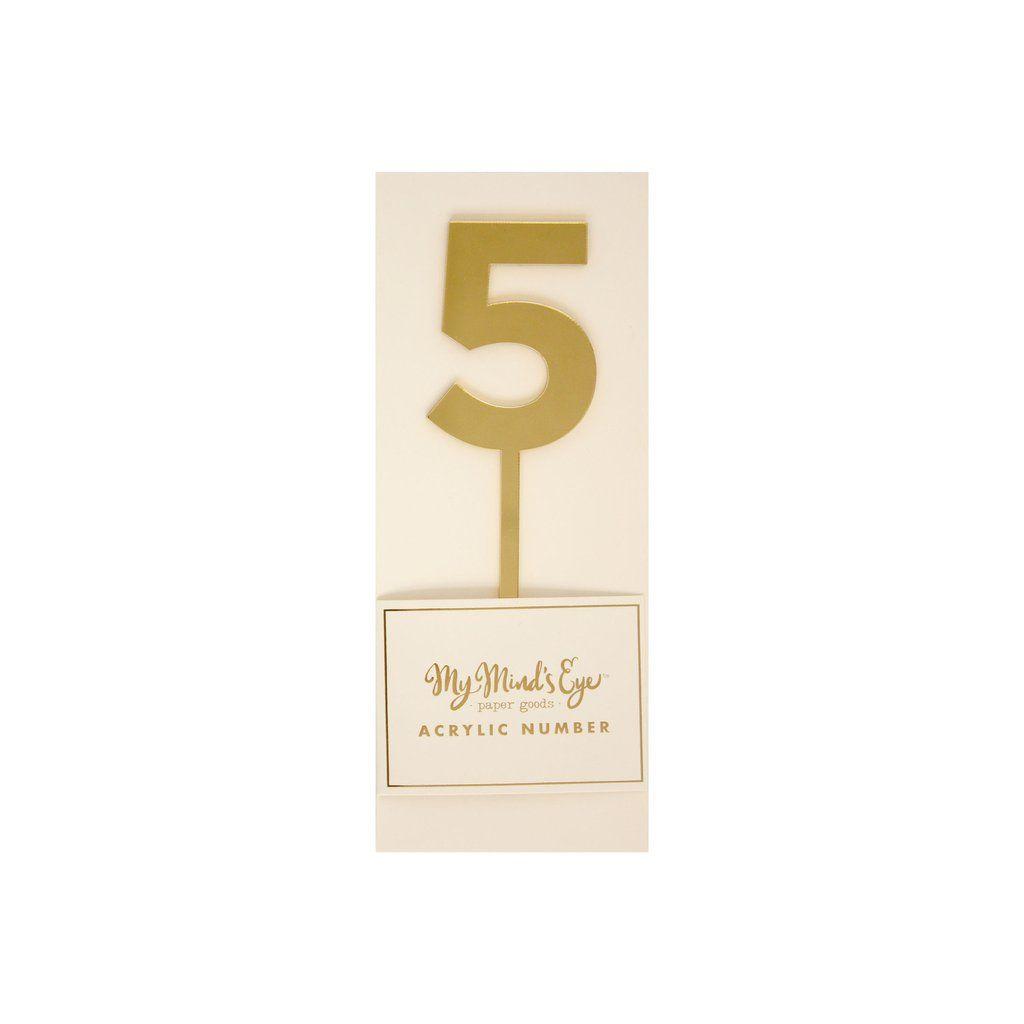 """My Mind's Eye """"Basic Gold  Acrylic Number 5"""". 3 Units."""