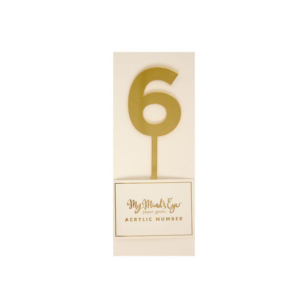 """My Mind's Eye """"Basic Gold  Acrylic Number 6"""".. 3 Units."""