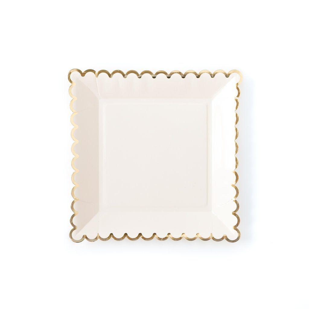 My Mind's Eye Basic Plates - Cream. 3 Units.