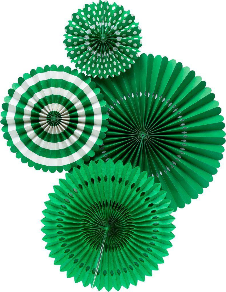 My Mind's Eye Basic Green Fan Set. 3 Units.