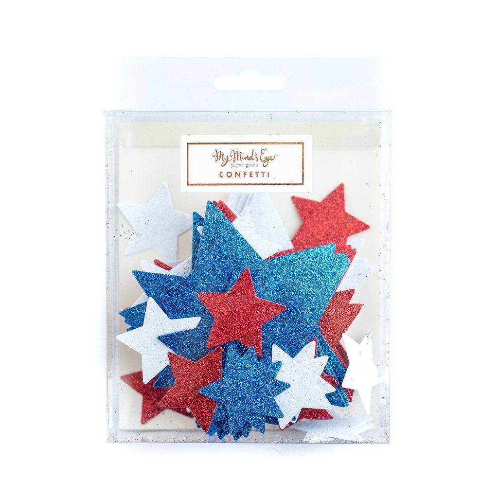 My Mind's Eye Stars & Stripes Confetti. 3 Units.