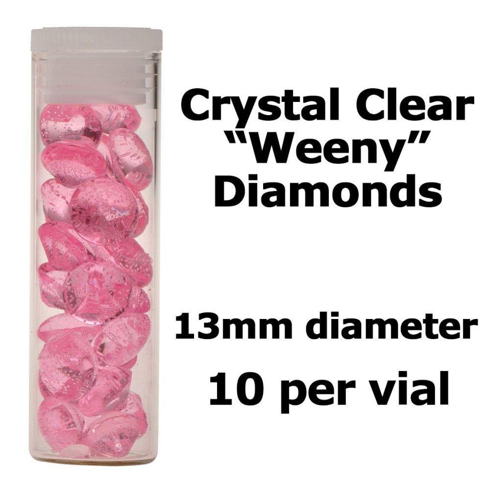 Crystal Candy Edible Isomalt Diamonds: 13mm. Pale Pink