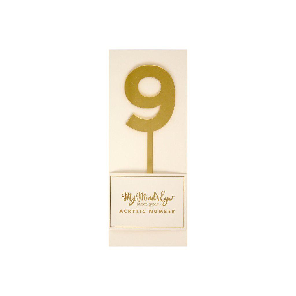 """My Mind's Eye """"Basic Gold  Acrylic Number 9"""". 3 Units."""