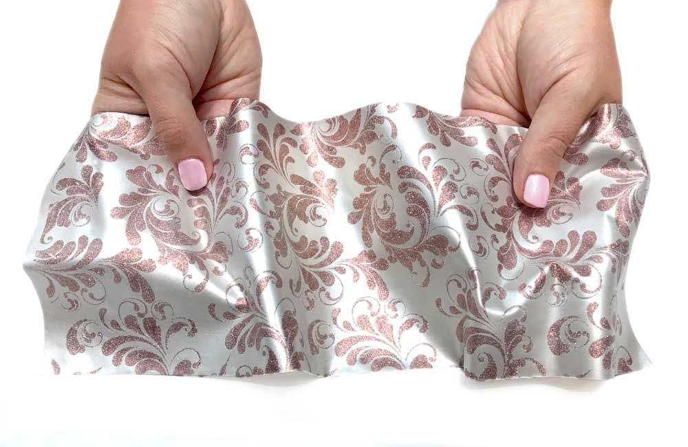 Crystal Candy Dolce Vita Printed:  Rose Gold on White
