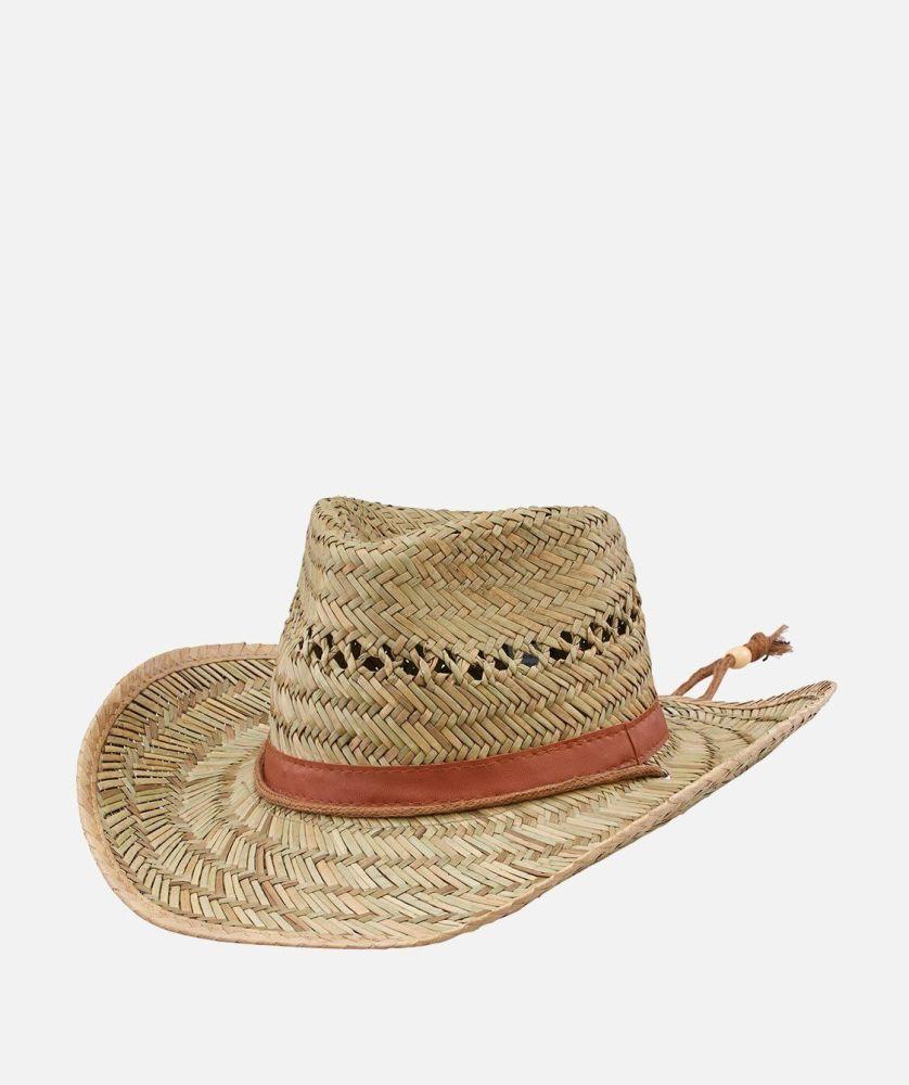 PBC1024OSNAT- Mens Rush Straw Chin Cowboy  -  NATURAL   -  MENS O/S