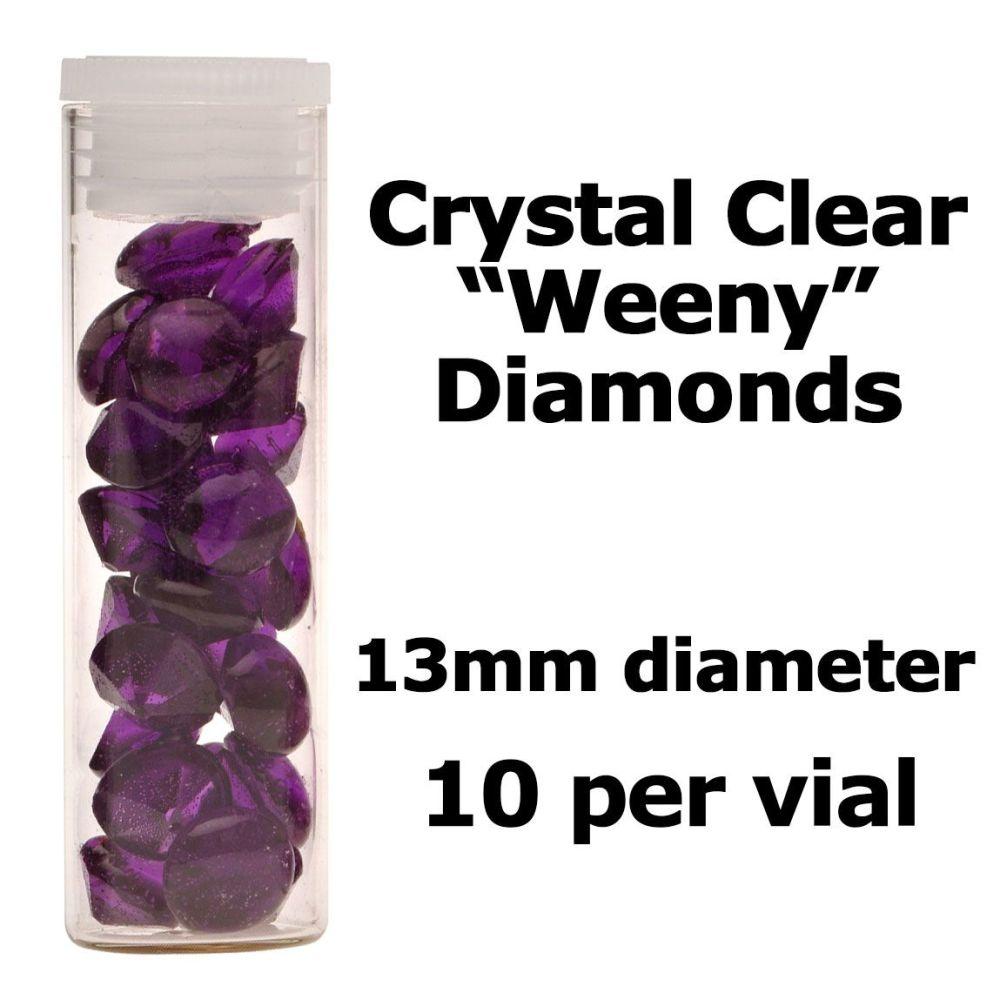 Crystal Candy Edible Isomalt Diamonds: 13mm. Purple
