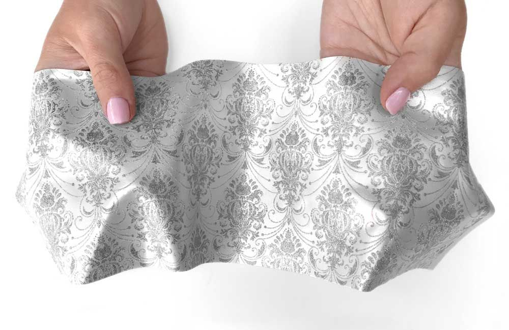 Crystal Candy C'est La Vie Printed:  Silver on White