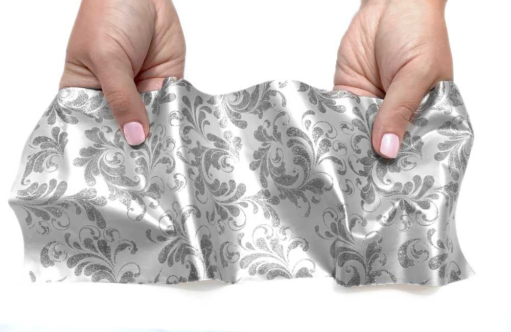 Crystal Candy Dolce Vita Printed:  Silver on White