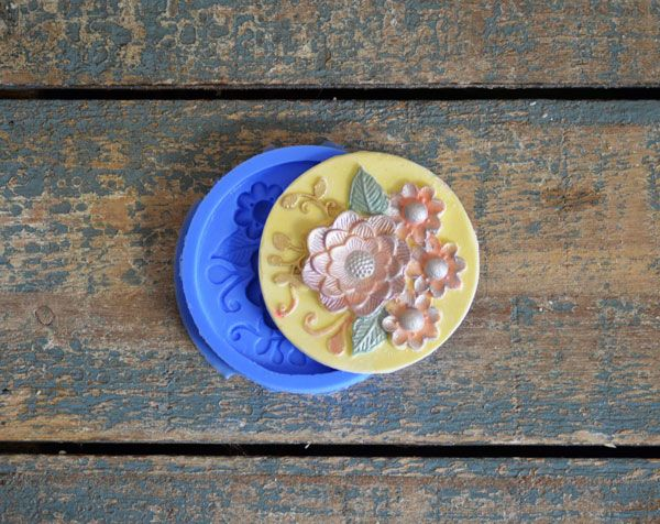 Crystal Candy Cupcake/ Cookie Bas Relief Mould: Tea Garden