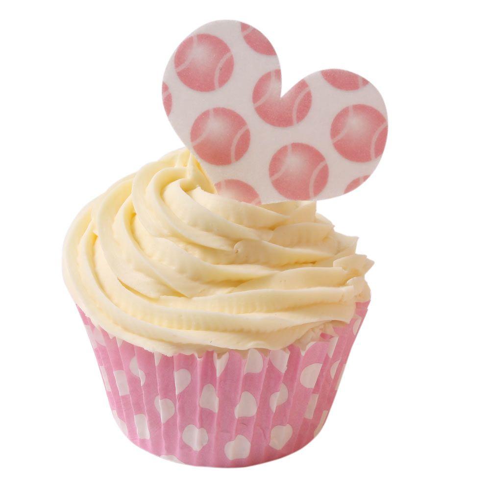 Sweet Heart Pink Tennis Ball Polka Dot