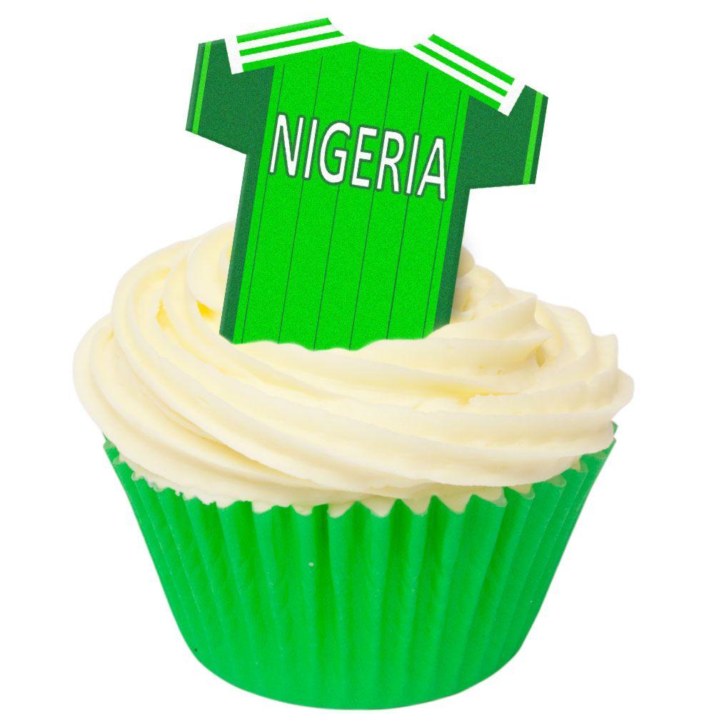 CDA Wafer Paper Pack of 12 Nigeria Football Shirts