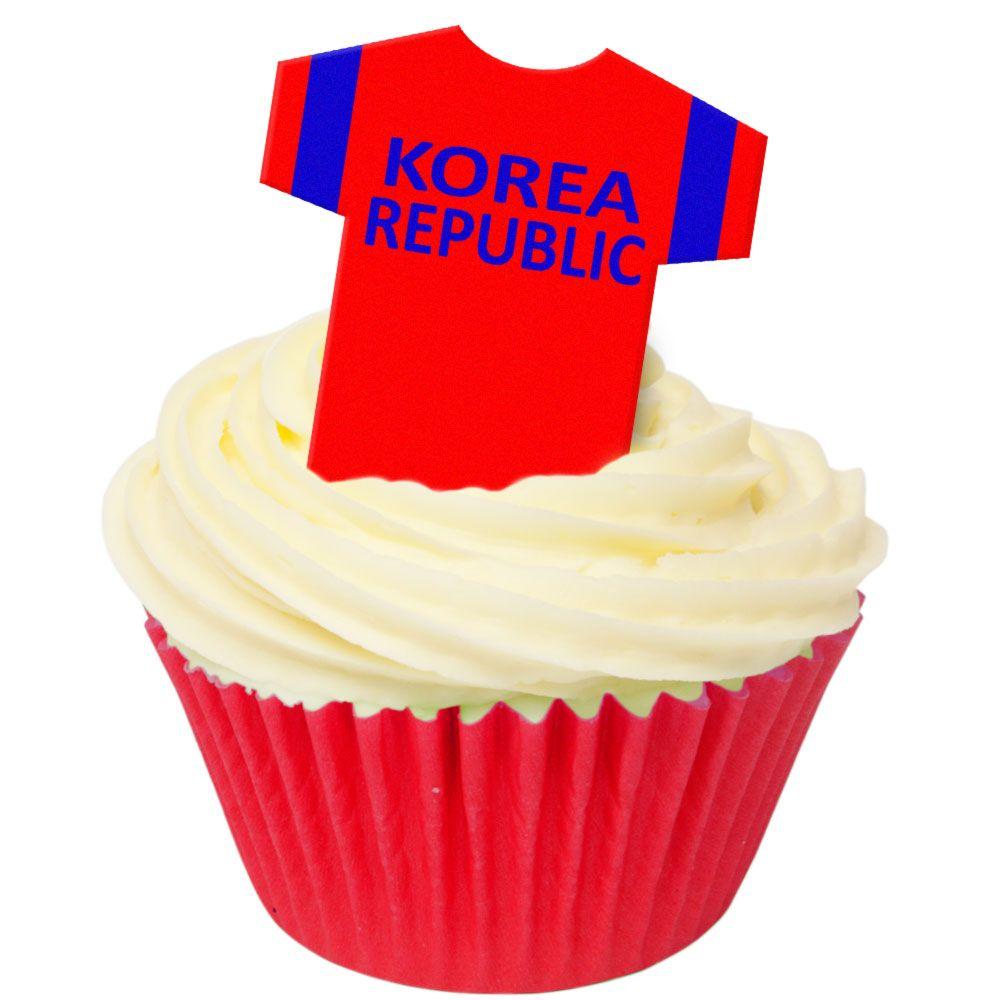 CDA Wafer Paper Pack of 12 Korea Republic Football Shirts