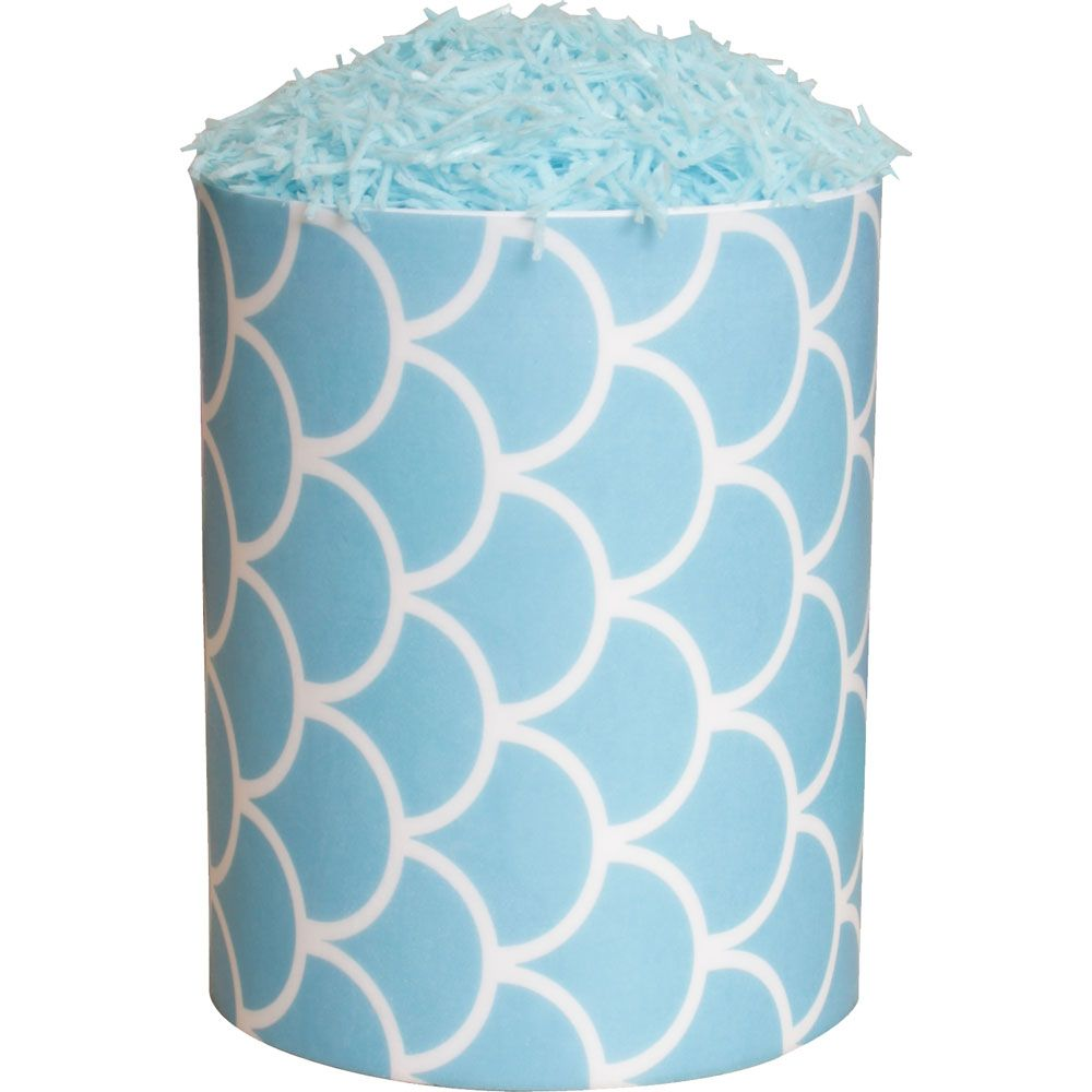Patterned Paper(A4) - Fish Scales - Baby Blue. Pack of 6