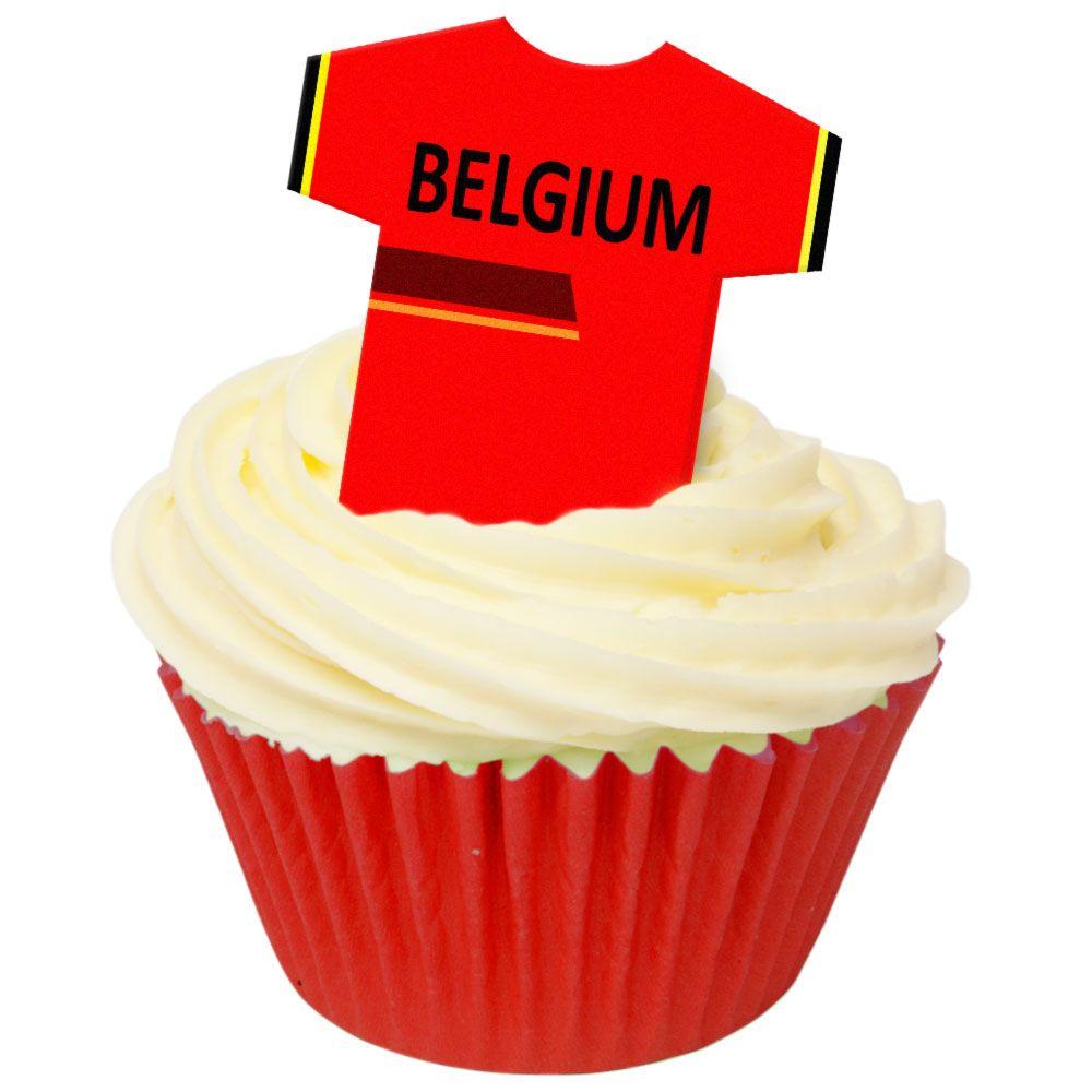 CDA Wafer Paper Pack of 12 Belgium Football Shirts