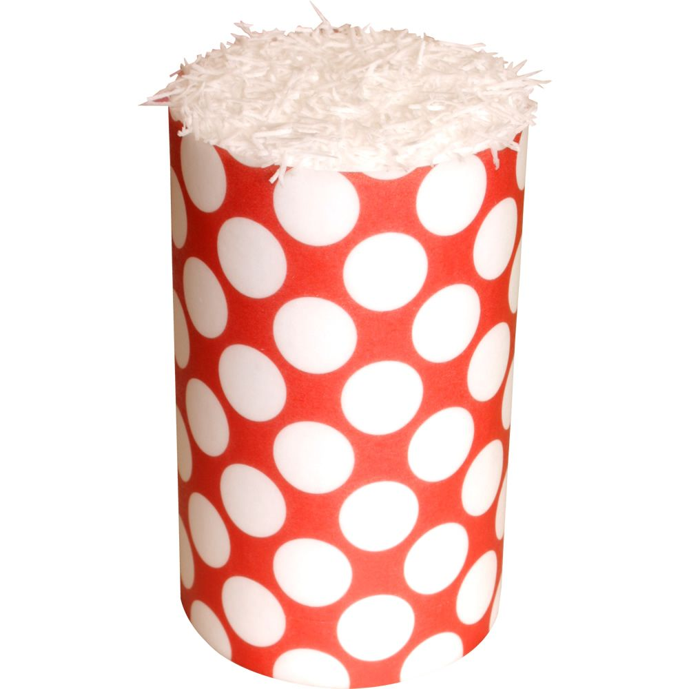 Patterned Paper(A4) - Large White Polka Dots - Red. Pack of 6.