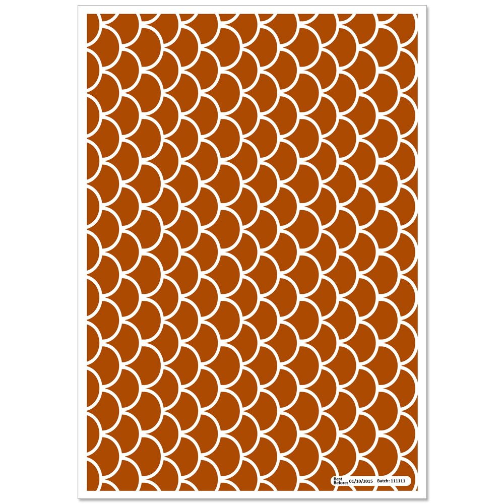 Patterned Paper(A4) - Fish Scales - Brown Pack of 6