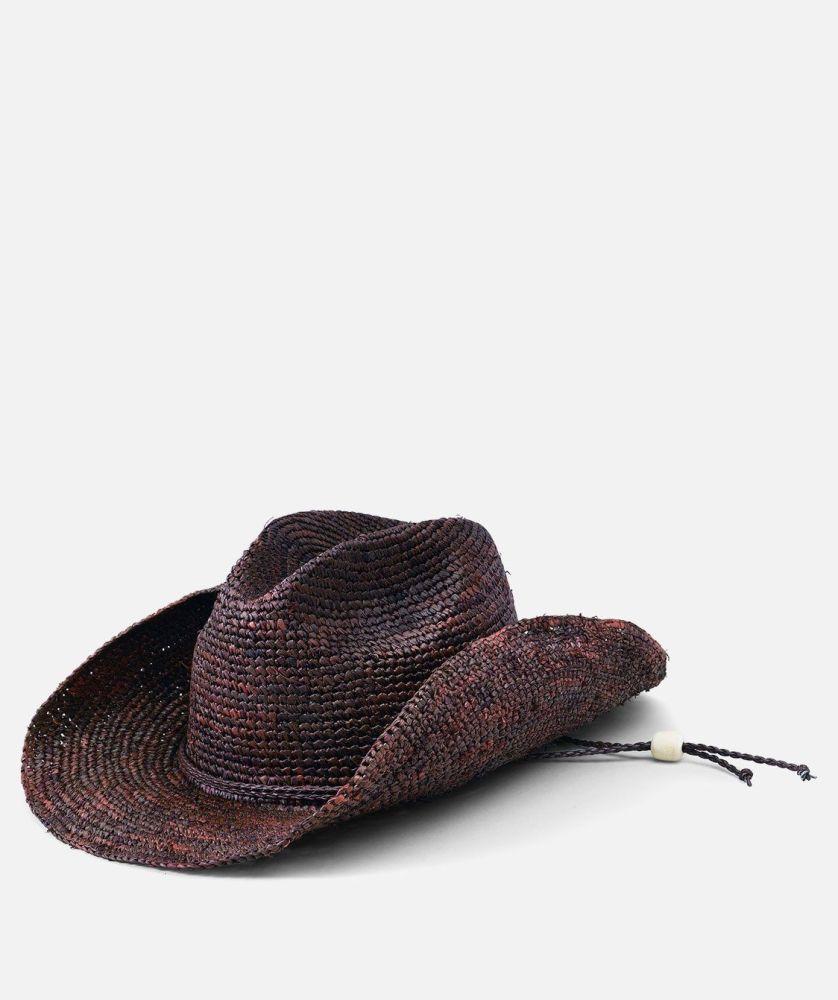 RHC1052OSBRN- Women's Raffia Cowboy Hat  -  WOMENS O/S