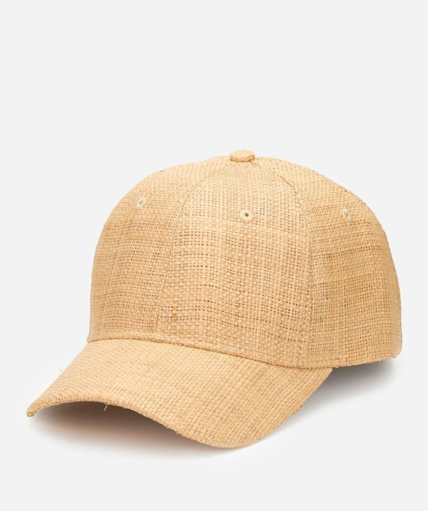 CTH4087OSNAT-WOMENS BALL CAP W/LEATHER ADJ BACK  -  NATURAL   -  WOMENS O/S