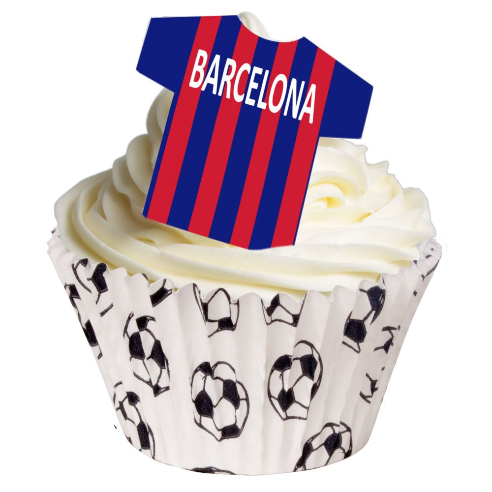 CDA Wafer Paper Pack of 12 Barcelona Edible T-Shirt Decorations