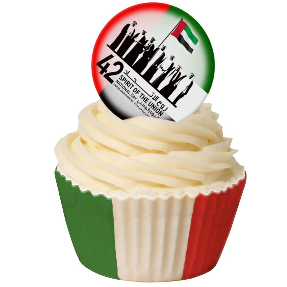 UAE National Day Round Topper 38mm
