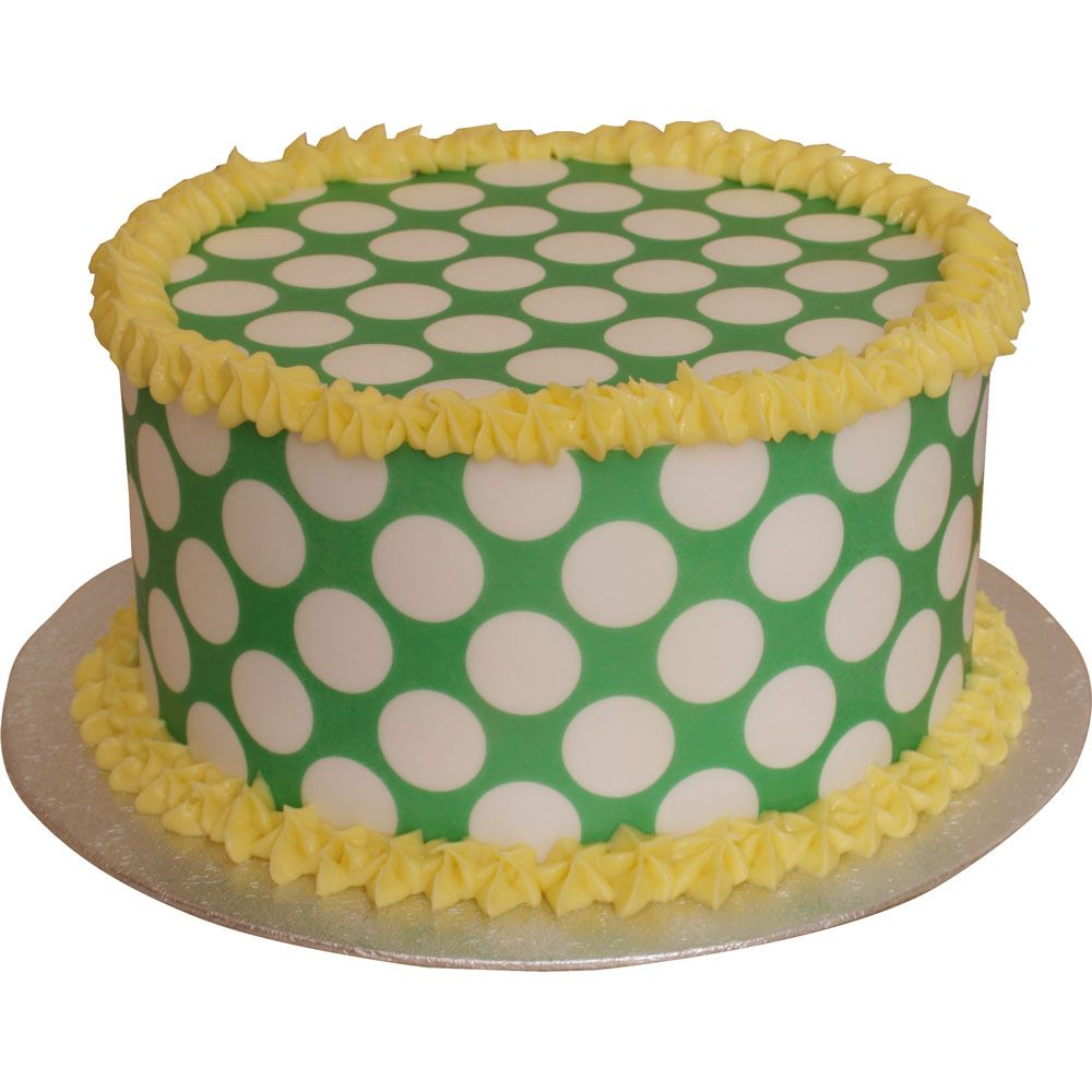 Patterned Paper(A4) - Large White Polka Dots - Lime Green. Pack of 6