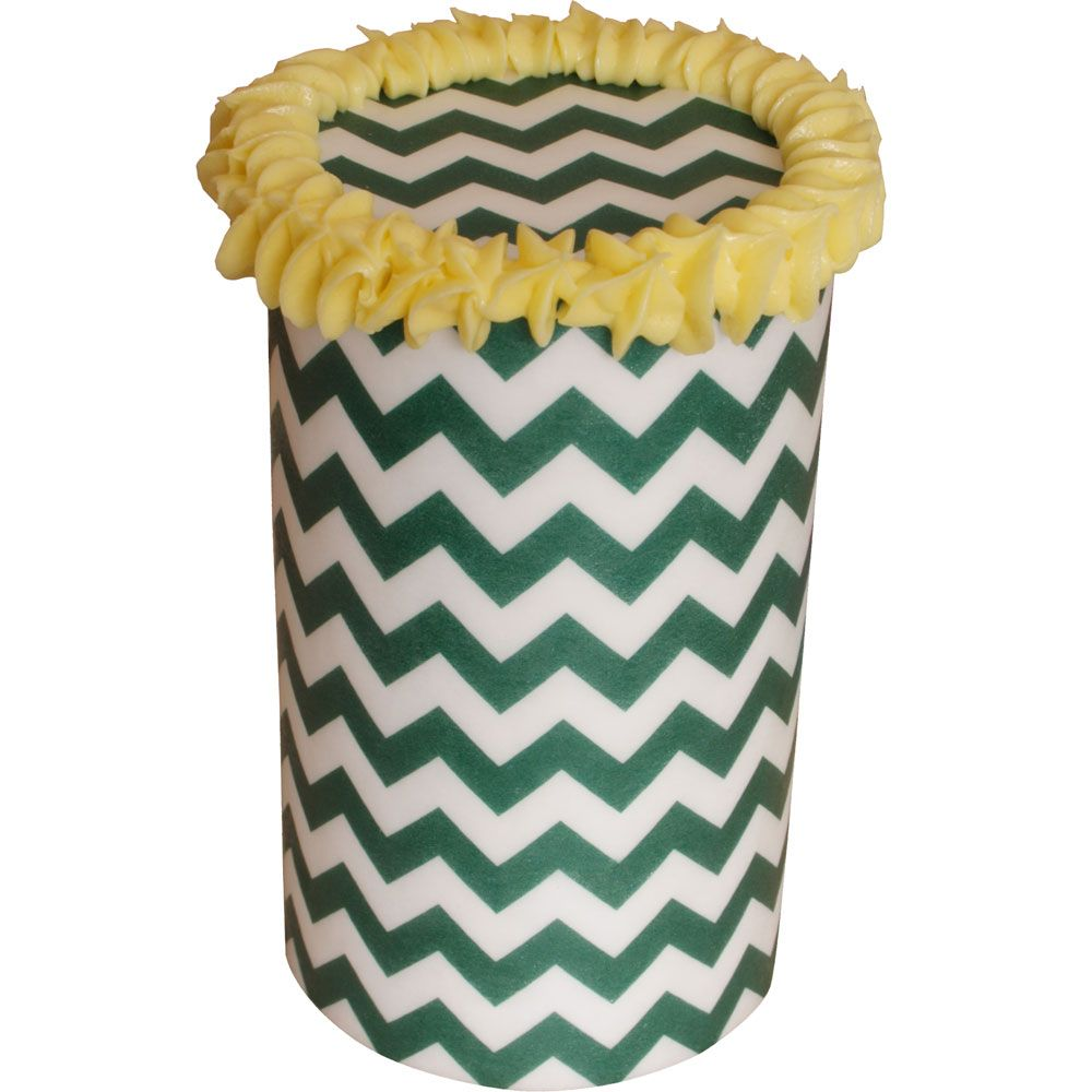Patterned Paper(A4) - Chevron - Dark Green. Pack of 6.